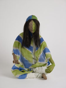 Francis Upritchard, Blue and Green Scarf, 2012